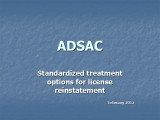 ADSAC TREATMENT OPTIONS OHSO 2012...