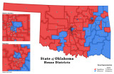 Oklahoma House Districts - Party...