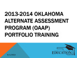 2013-14 OAAP PowerPoint training...