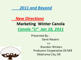 Canola U 1-18-11 Marketing...
