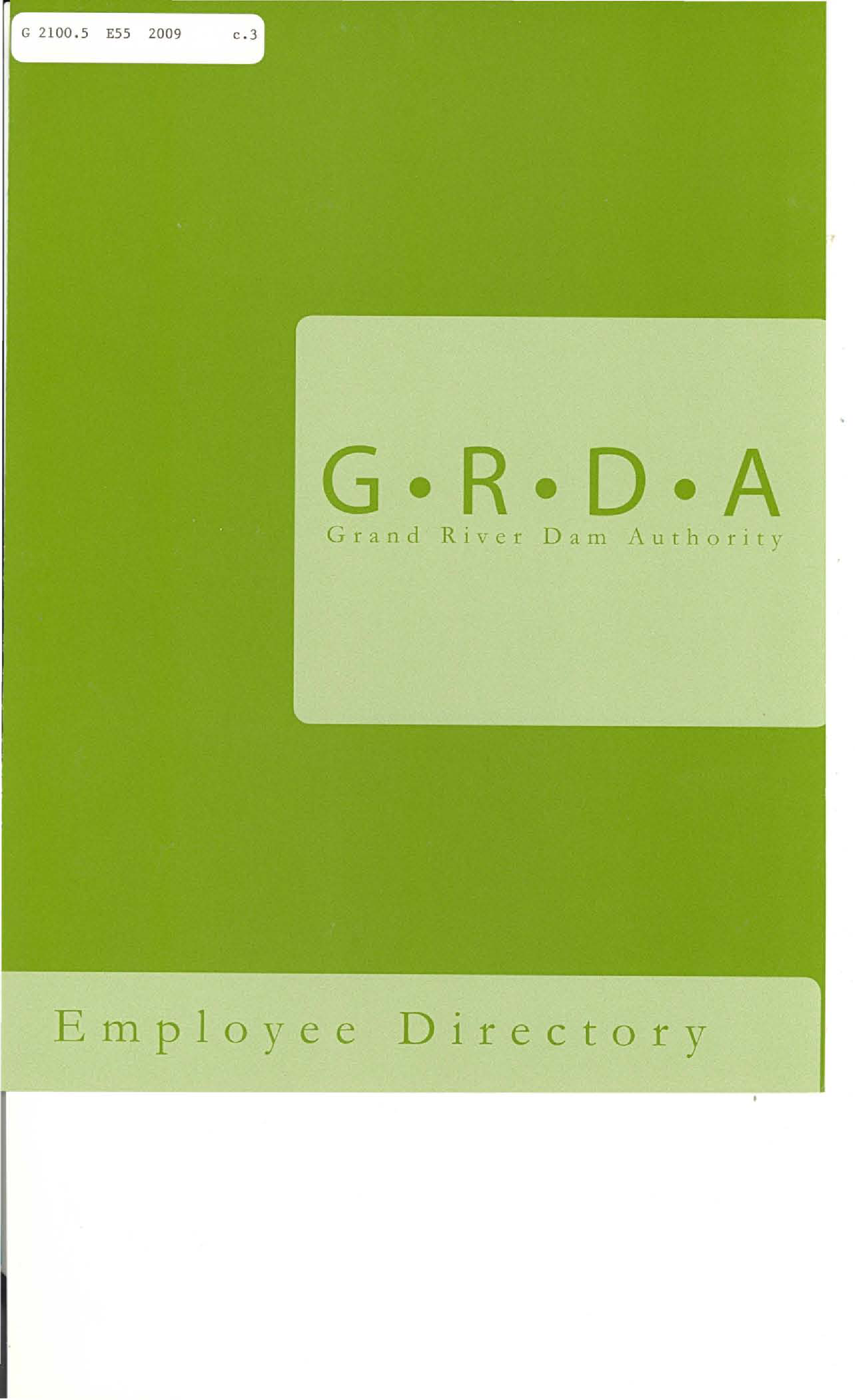 GRDA Employee Dir 2009 - Documents OK Gov - Oklahoma Digital