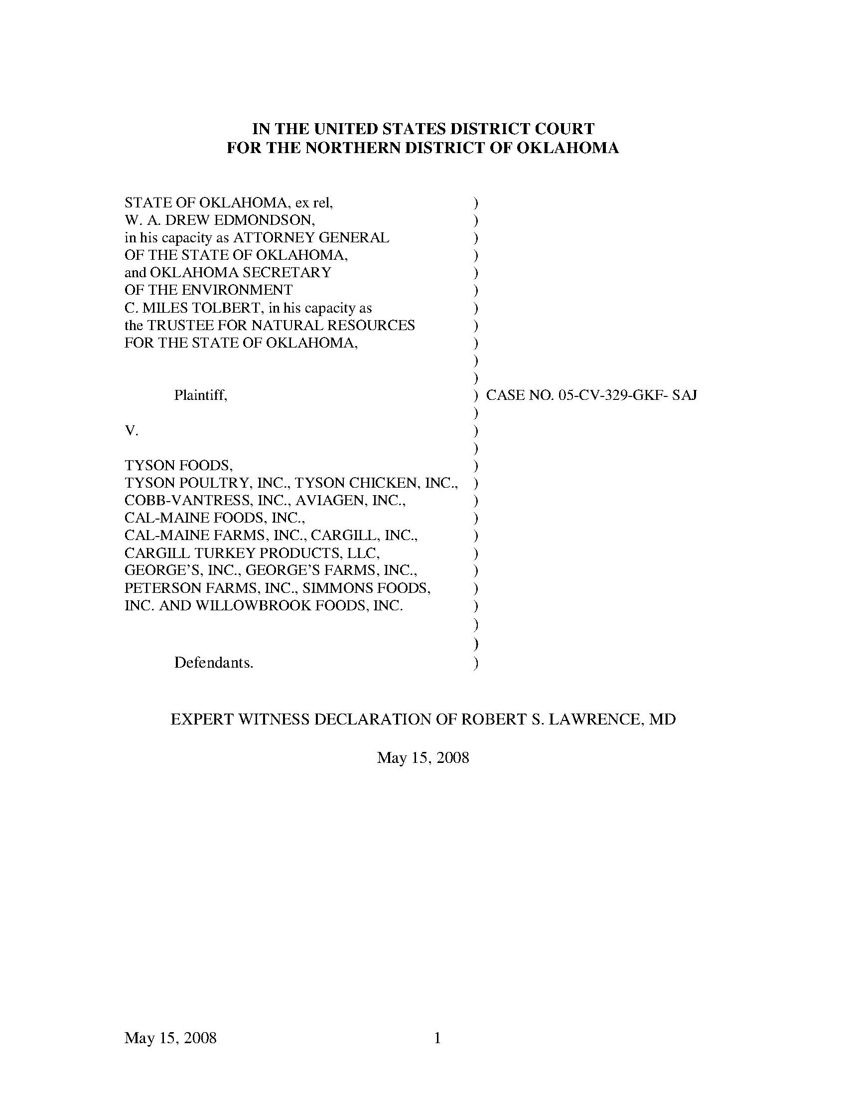 OK Attorney General - Lawrence File 1 - Documents OK Gov - Oklahoma