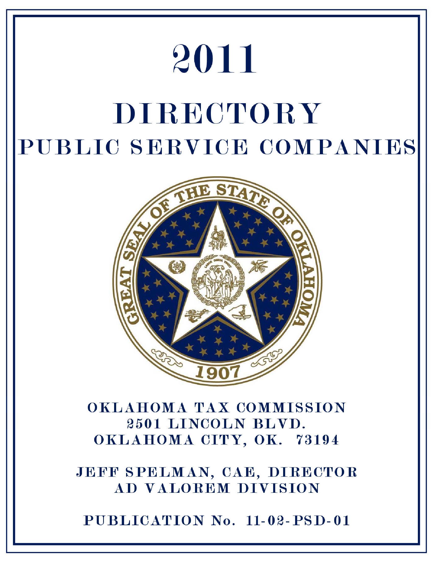 Public Service Directory 2011 - Documents OK Gov - Oklahoma Digital